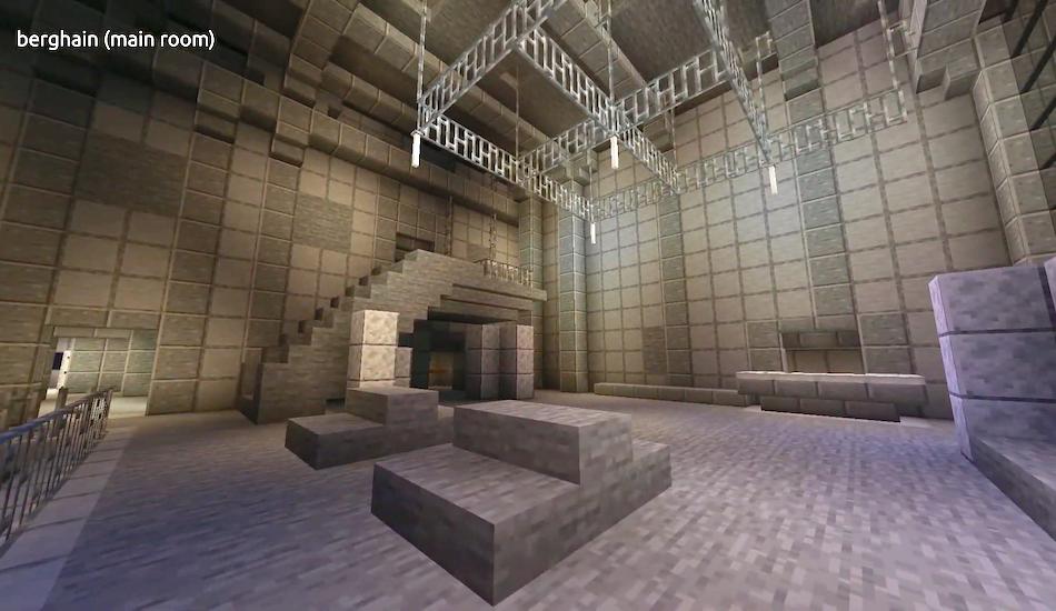 Arrêtez tout : un internaute a modélisé l'intérieur du Berghain sur Minecraft
