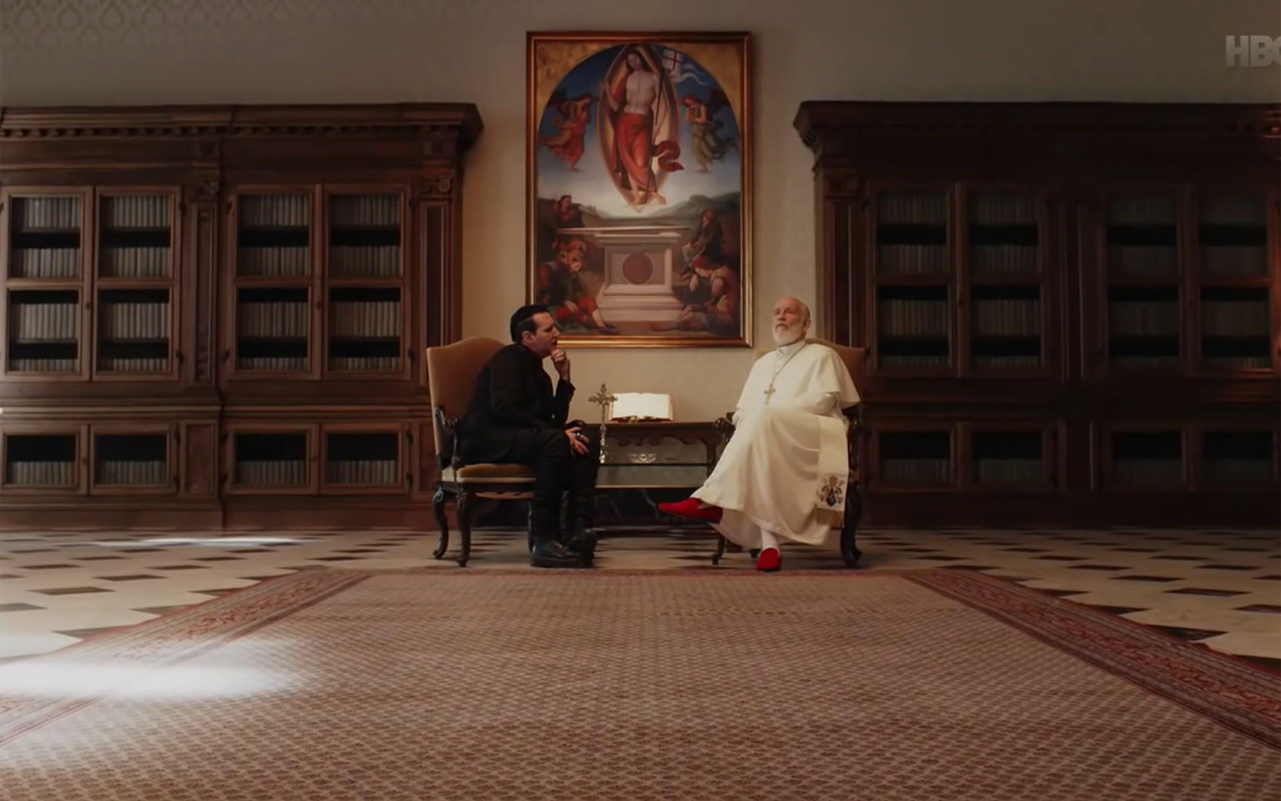 Quand Marilyn Manson rencontre le pape