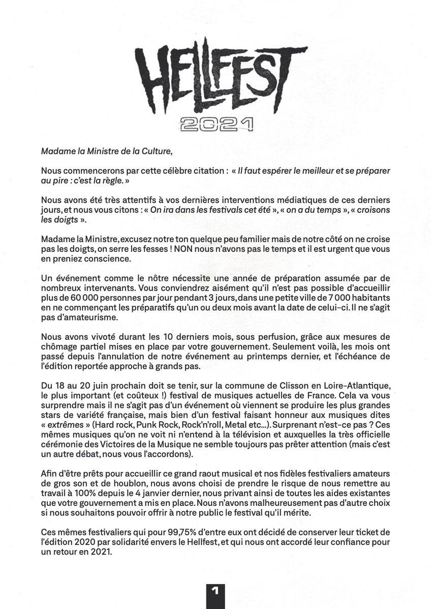 lettre ouverte Hellfest 1
